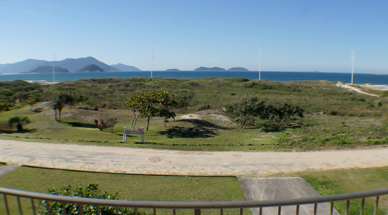 A Praia vista da Pousada